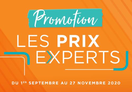 Promotion de rentrée : LES PRIX EXPERTS